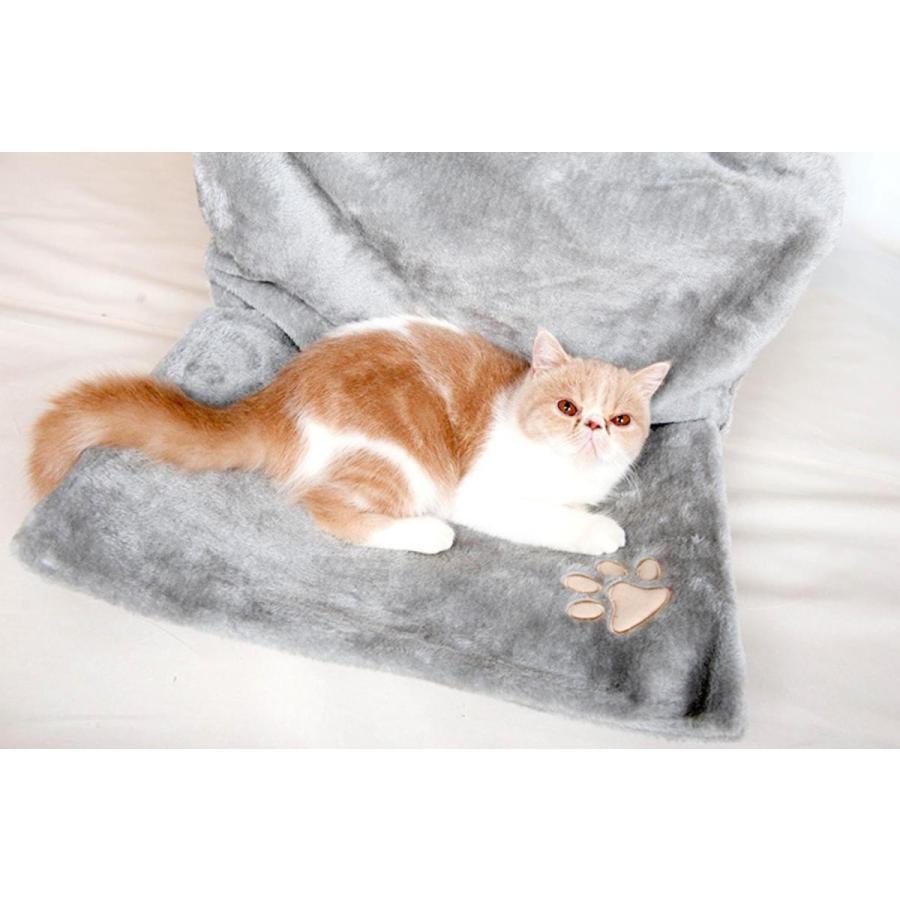 猫用 ハンモック キャットベッド お昼寝 椅子掛け 猫ベッド マット もこもこ ソファー 手すり 窓辺掛 椅子掛 ケージ掛 ケージ内に掛けられる 丸洗い petshopbelfa 09