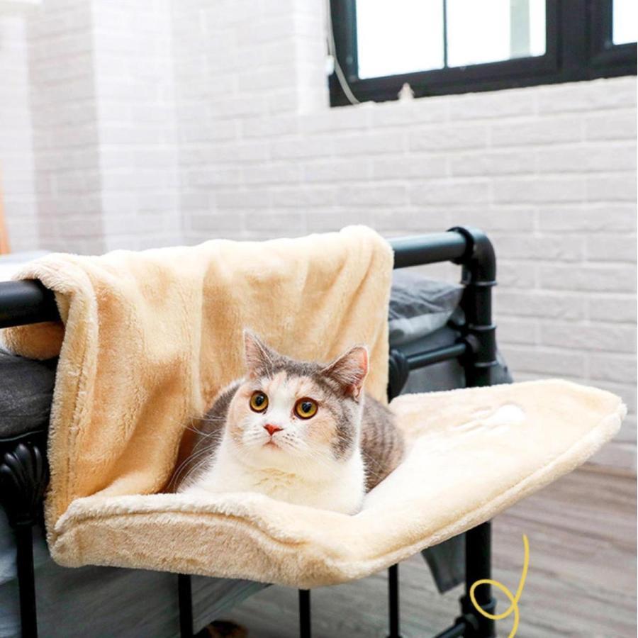 猫用 ハンモック キャットベッド お昼寝 椅子掛け 猫ベッド マット もこもこ ソファー 手すり 窓辺掛 椅子掛 ケージ掛 ケージ内に掛けられる 丸洗い petshopbelfa 03