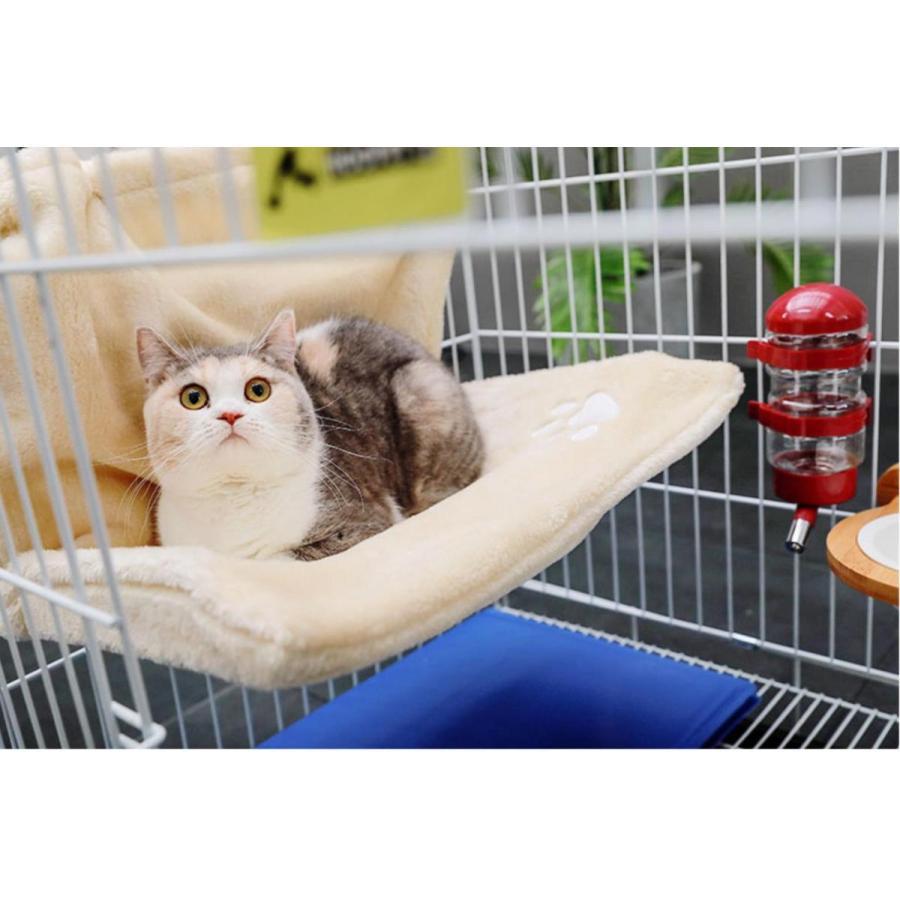 猫用 ハンモック キャットベッド お昼寝 椅子掛け 猫ベッド マット もこもこ ソファー 手すり 窓辺掛 椅子掛 ケージ掛 ケージ内に掛けられる 丸洗い petshopbelfa 06
