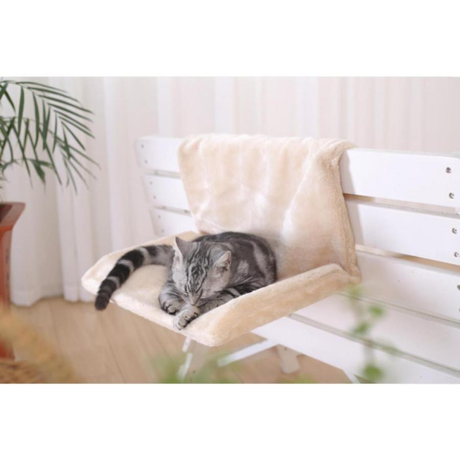 猫用 ハンモック キャットベッド お昼寝 椅子掛け 猫ベッド マット もこもこ ソファー 手すり 窓辺掛 椅子掛 ケージ掛 ケージ内に掛けられる 丸洗い petshopbelfa 11