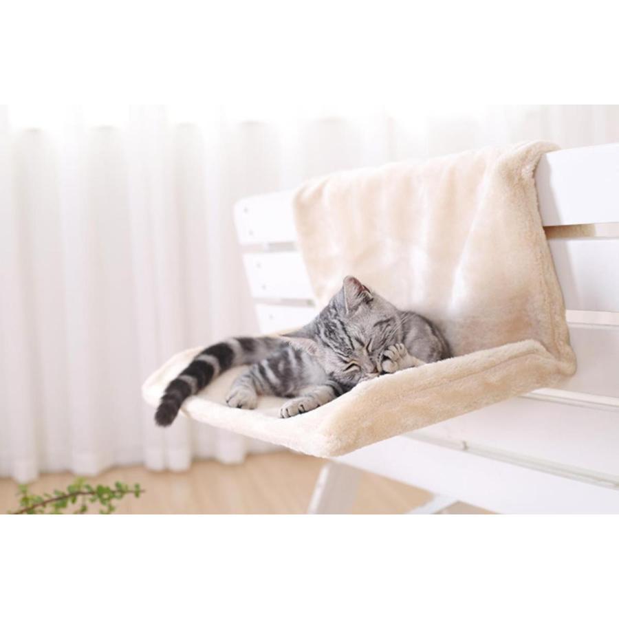 猫用 ハンモック キャットベッド お昼寝 椅子掛け 猫ベッド マット もこもこ ソファー 手すり 窓辺掛 椅子掛 ケージ掛 ケージ内に掛けられる 丸洗い petshopbelfa 07