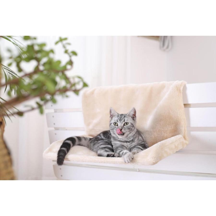 猫用 ハンモック キャットベッド お昼寝 椅子掛け 猫ベッド マット もこもこ ソファー 手すり 窓辺掛 椅子掛 ケージ掛 ケージ内に掛けられる 丸洗い petshopbelfa 08
