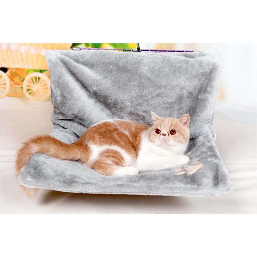 猫用 ハンモック キャットベッド お昼寝 椅子掛け 猫ベッド マット もこもこ ソファー 手すり 窓辺掛 椅子掛 ケージ掛 ケージ内に掛けられる 丸洗い petshopbelfa 10