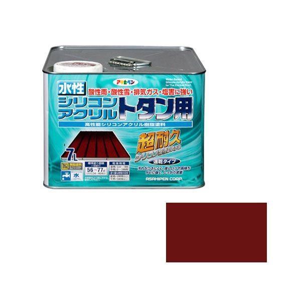 アサヒペン AP 水性シリコンアクリルトタン用 7L 赤さび