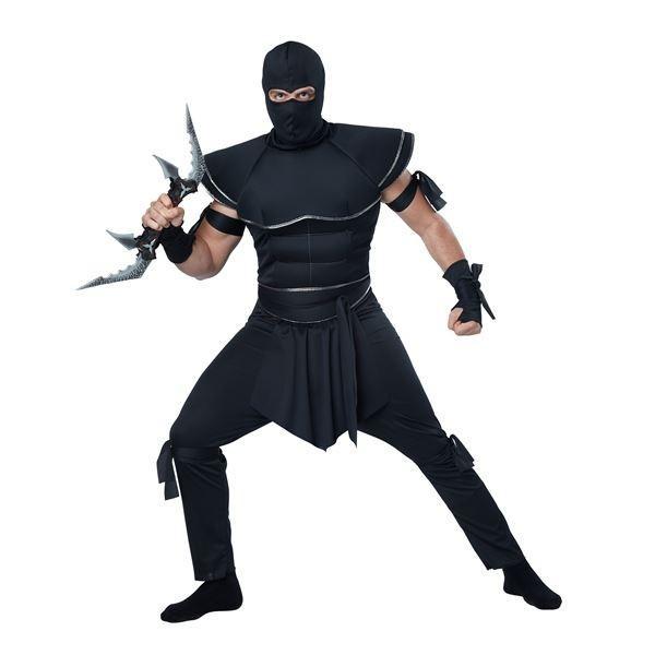 コスプレ衣装/コスチューム California Costumes Stealth Ninja 〔シャツ・足紐付きズボン・フードマスク・ベルト・手袋・腕紐〕