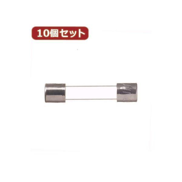 (まとめ)YAZAWA (まとめ)YAZAWA 10個セットガラス管ヒューズ30mm 125V GF01125X10〔×2セット〕