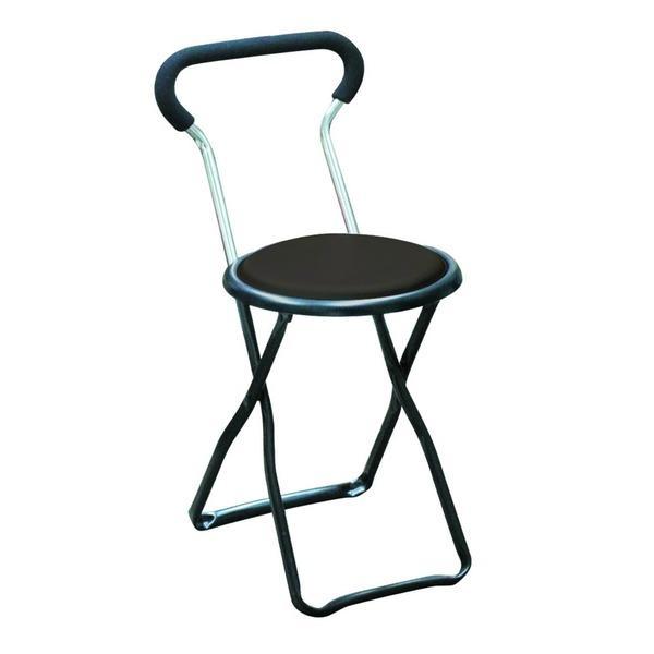 折りたたみ椅子 〔4脚セット ブラック×ブラック〕 ブラック×ブラック〕 幅32cm 日本製 スチールパイプ 『ソニックチェア』〔代引不可〕