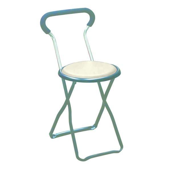 折りたたみ椅子 折りたたみ椅子 〔4脚セット ホワイト×ブラック〕 幅32cm 日本製 スチールパイプ 『ソニックチェア』〔代引不可〕