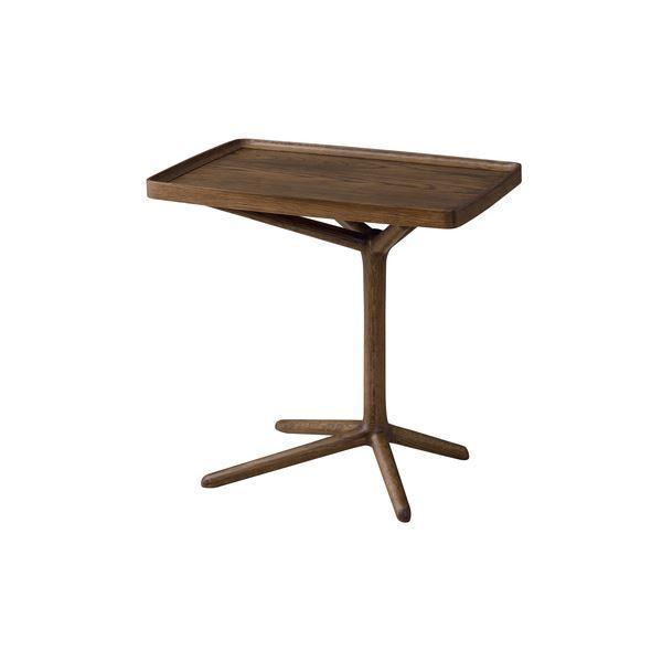 2WAY サイドテーブル/ミニテーブル 〔ブラウン〕 幅54cm 木製 〔リビング ダイニング ベッドルーム 寝室〕