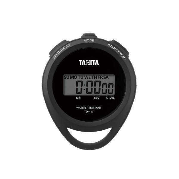 (まとめ)タニタ ストップウオッチ TD-417-BK〔×30セット〕
