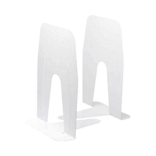 (まとめ)ソニック (まとめ)ソニック ブックエンド 超特大 A4ぴったりサイズ 白〔×30セット〕