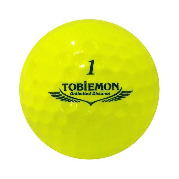 6個セット TOBIEMON 超高性能3ピース PREMIUM-3 スパークルイエロー ダース T-B3DYX6 ゴルフボール