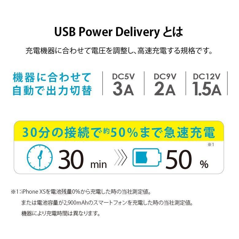 USB PD 電源アダプタ USB-C & USB-Aポート ホワイト PG-PDA18AD2W 充電器 急速 充電 USB-C コンセント pg-a 02