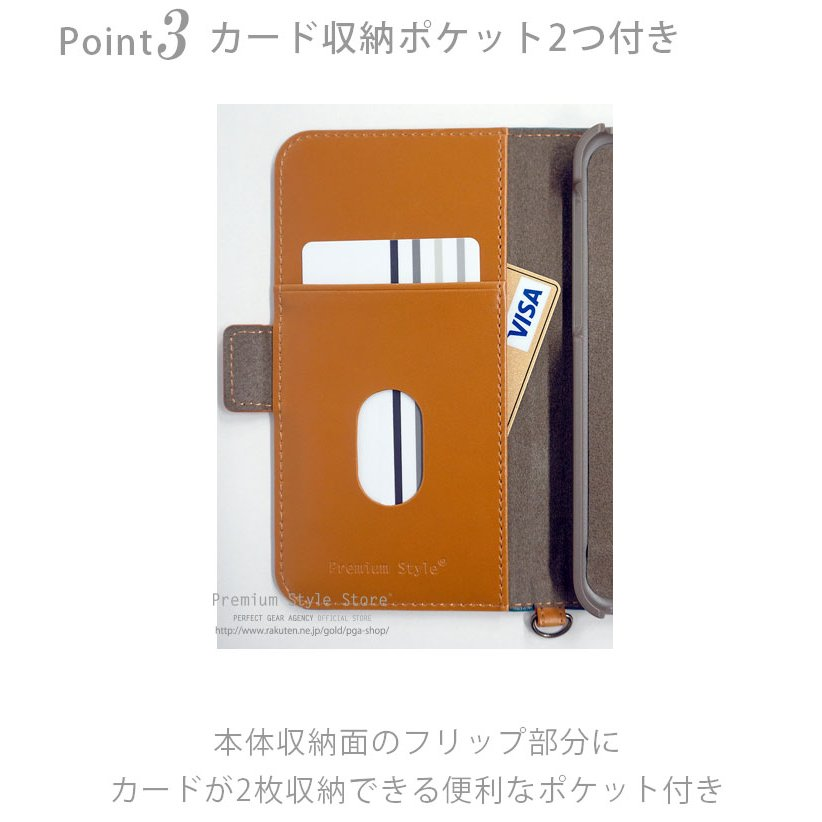 iPhone 12 mini用 フリップカバー PUレザーダメージ加工|pg-a|04