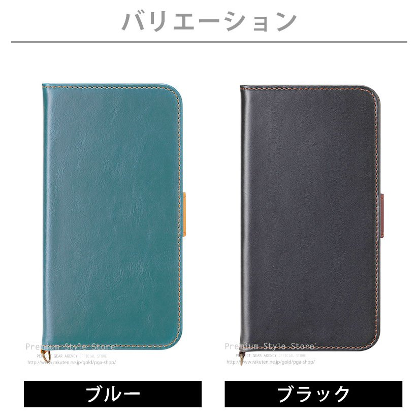 iPhone 12 mini用 フリップカバー PUレザーダメージ加工|pg-a|06