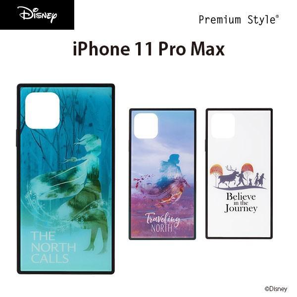 iPhone 11 Pro Max用 アナと雪の女王 ガラスハイブリッドケース|pg-a