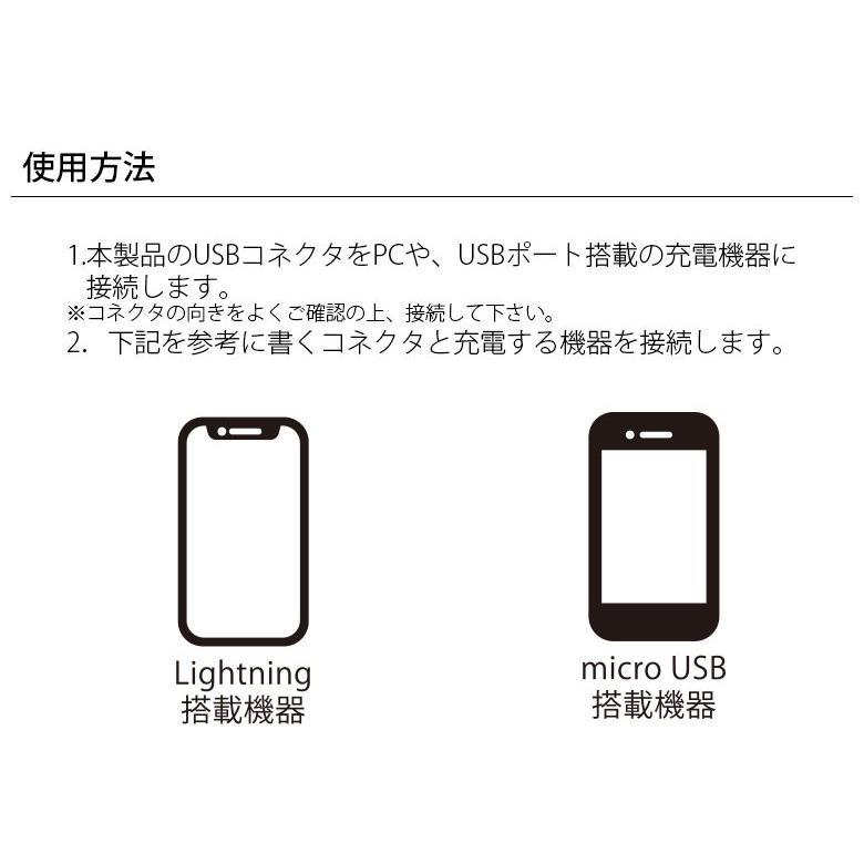 アウトレット 変換コネクタ付き 2in1 USBタフケーブル(Lightning&micro USB) 1m pg-a 04