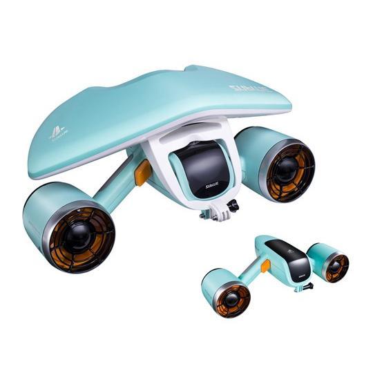 SU青 白いSHARK MIX 水中スクーター(アクアブルー 特別色)※バッテリープレゼント