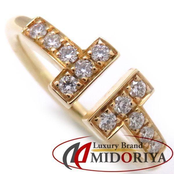(お得な特別割引価格) ティファニー TIFFANY Tワイヤーリング ダイヤモンド12P 750YG 8号 指輪/098320【】, 福島町 43b72651