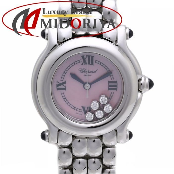 新規購入 Chopard ショパール ショパール クォーツ ハッピースポーツ ピンクシェル【】 27/8250-23 ダイヤモンド クォーツ レディース/36072【】 腕時計, 大曲市:af5443a5 --- airmodconsu.dominiotemporario.com