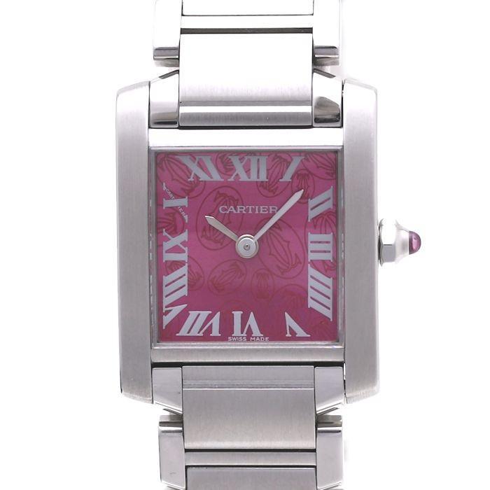 Cartier(カルティエ) W51030Q3 タンクフランセーズ SM ラズベリー 2006年クリスマス限定 レディース /36888 【中古】  腕時計 :36888:株式会社MIDORIYA - 通販 - Yahoo!ショッピング