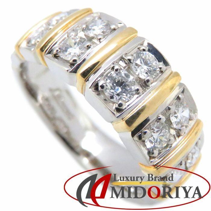 【超歓迎された】 ダイヤモンド リング Pt900/K18YG ダイヤモンド0.50ct 9号 18金 イエローゴールド プラチナ 指輪 レディース ジュエリー/63513【】, VANVES 7db995fc