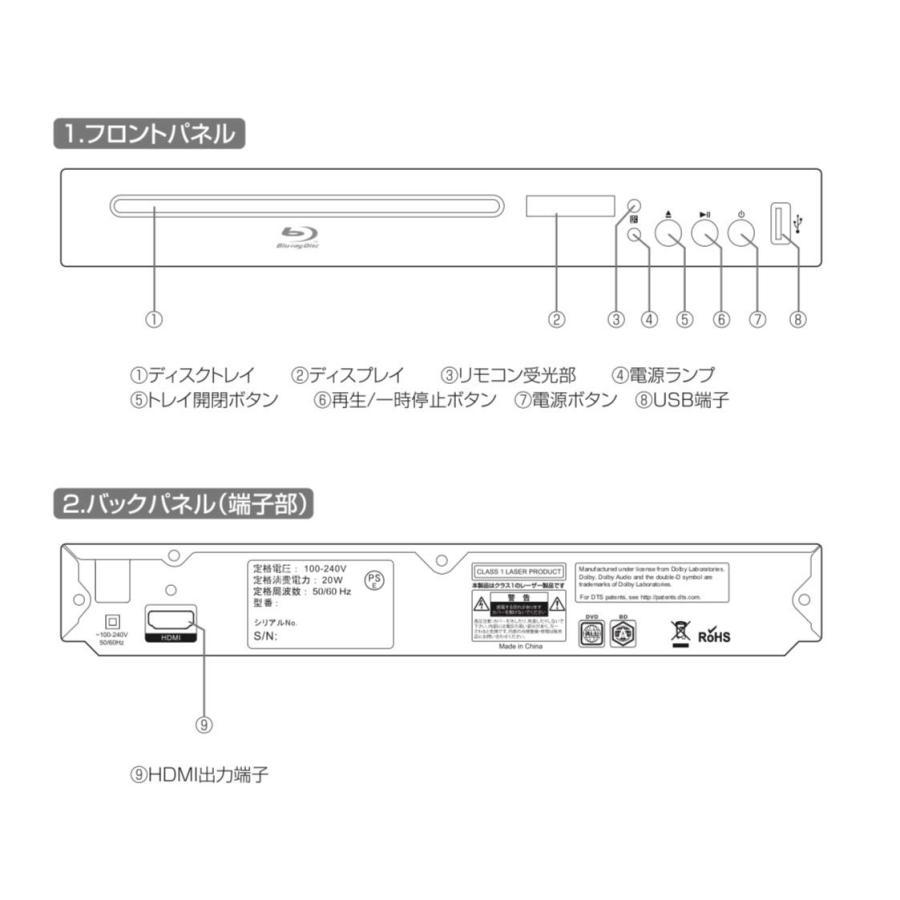 アグレクション BD DVDプレイヤー 再生専用 ブルーレイディスク プレーヤー superbe SU-BD01 ASU-BD01 SU-BD01S BD01|phaze-one|03