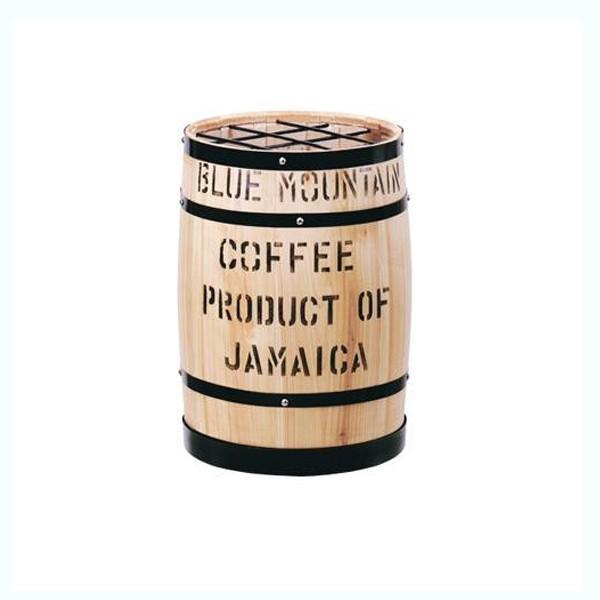 【日時指定可】コーヒー樽傘立 白 【日時指定可】コーヒー樽傘立 白