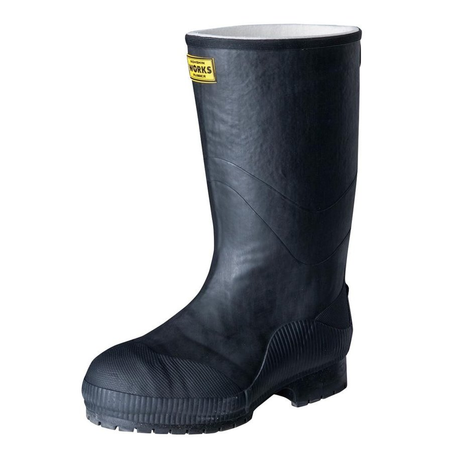 【日時指定可】弘進ゴム 長靴(ゴム製) ライトセーフティーワークス LSW-02 黒 25.5cm A0020AC