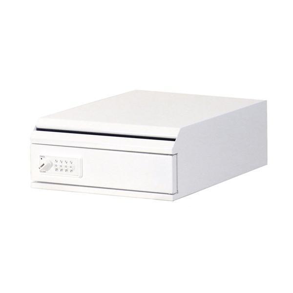 【日時指定可】ぶんぶく 機密書類回収ボックス 卓上 ダイヤル錠仕様 ネオホワイト ネオホワイト ネオホワイト KIM-S-6D 4e0