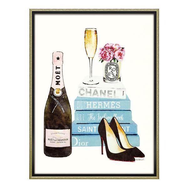 【日時指定可】ユーパワー オマージュ キャンバスアート 「ティール シャンパン(Lサイズ)」 BC-18006