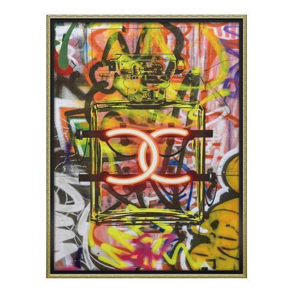 【日時指定可】ユーパワー 【日時指定可】ユーパワー オマージュ キャンバスアート 「グラフィティ パフューム1(Lサイズ)」 BC-18015