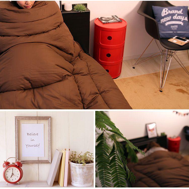 掛け布団 シングル 暖かい 洗える 冬用 発熱 F-TECH繊維 発熱綿仕様 羽毛+2℃の保温力 ふとん あったかい だんだん暖かくなる  サンファイバー|pickupplazashop|04