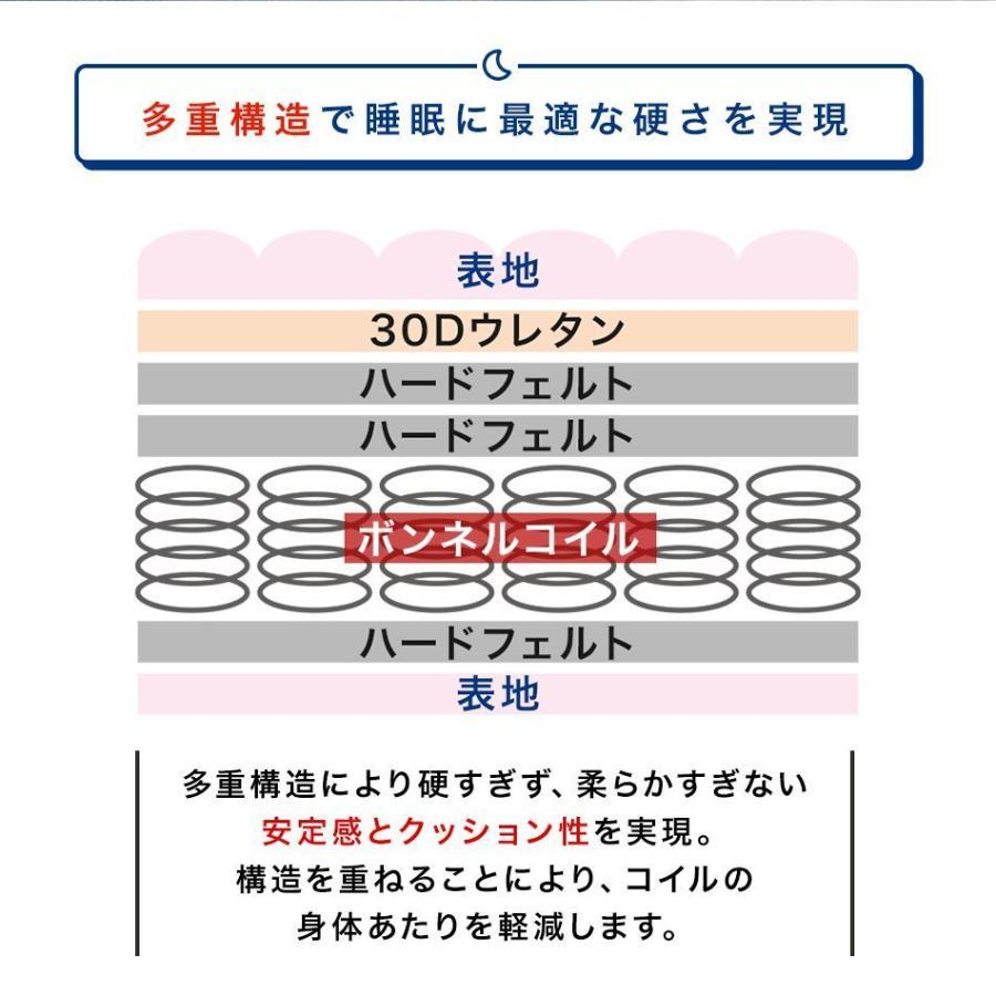 コイルマットレス 高密度ボンネルコイル シングル 厚さ16.5cm スプリングマットレス マットレス 硬め 通気性 ボンネルマット マット 圧縮 腰痛 肩こり|pickupplazashop|10