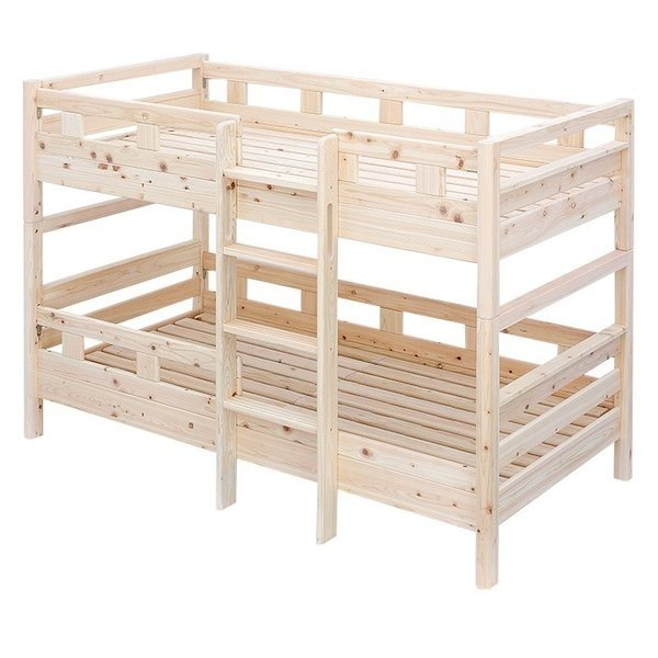 二段ベッド 2段ベッド 国産檜100%使用 ロータイプ コンパクト 耐震 クスクス4 ショート ショート