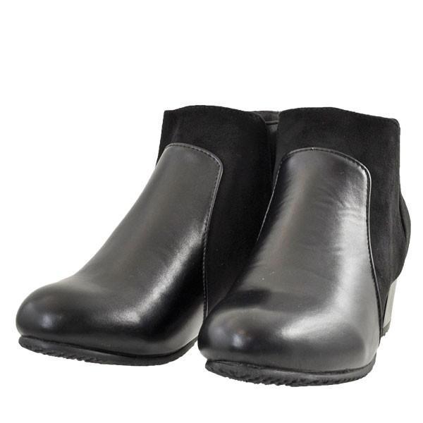 レディース 靴 ブーツ マドラス ボディーフォーカス チャンキーヒール サイドゴアブーツ ブラック BD6006BLA|pieds