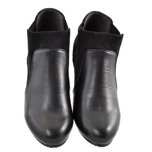 レディース 靴 ブーツ マドラス ボディーフォーカス チャンキーヒール サイドゴアブーツ ブラック BD6006BLA|pieds|02