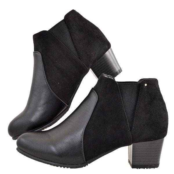 レディース 靴 ブーツ マドラス ボディーフォーカス チャンキーヒール サイドゴアブーツ ブラック BD6006BLA|pieds|03