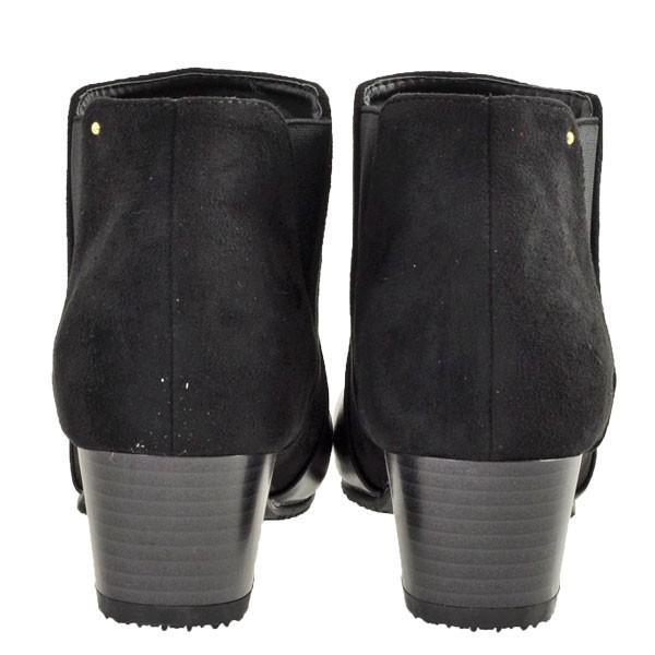 レディース 靴 ブーツ マドラス ボディーフォーカス チャンキーヒール サイドゴアブーツ ブラック BD6006BLA|pieds|04