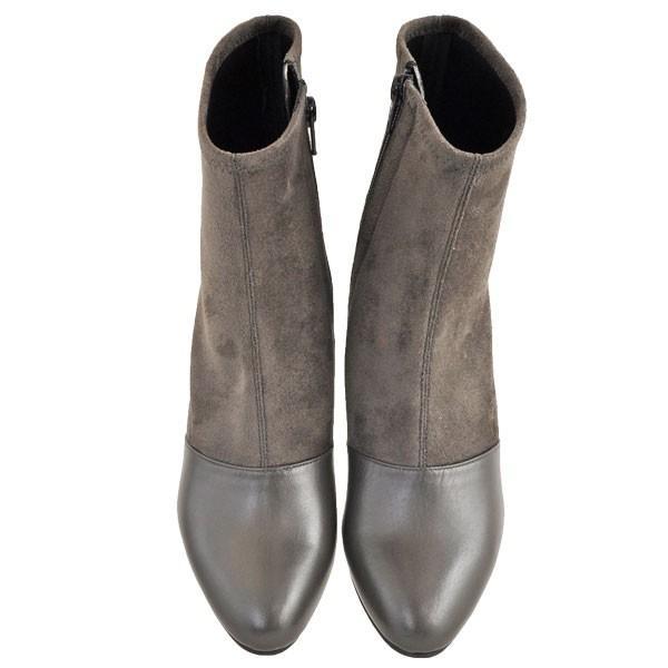 レディース 靴 ブーツ マドラス モデロ 日本製 ストレッチ入り サイドファスナー 7.5cmヒール ショートブーツ 送料無料 ダークオーク DLL814DOK|pieds|02