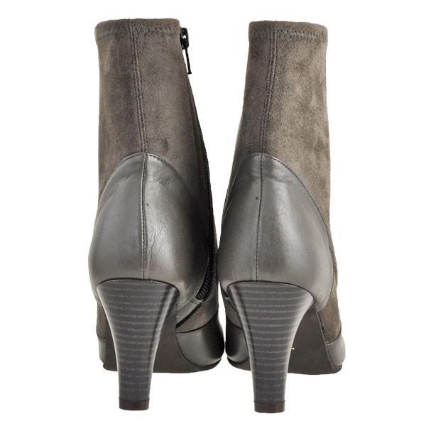 レディース 靴 ブーツ マドラス モデロ 日本製 ストレッチ入り サイドファスナー 7.5cmヒール ショートブーツ 送料無料 ダークオーク DLL814DOK|pieds|04