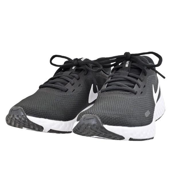 レディース 靴 スニーカー ウィメンズ ナイキ レボリューション5 ブラック/ホワイト/アンスラサイト(ブラック/ホワイト) NIKEBQ3207-002 pieds
