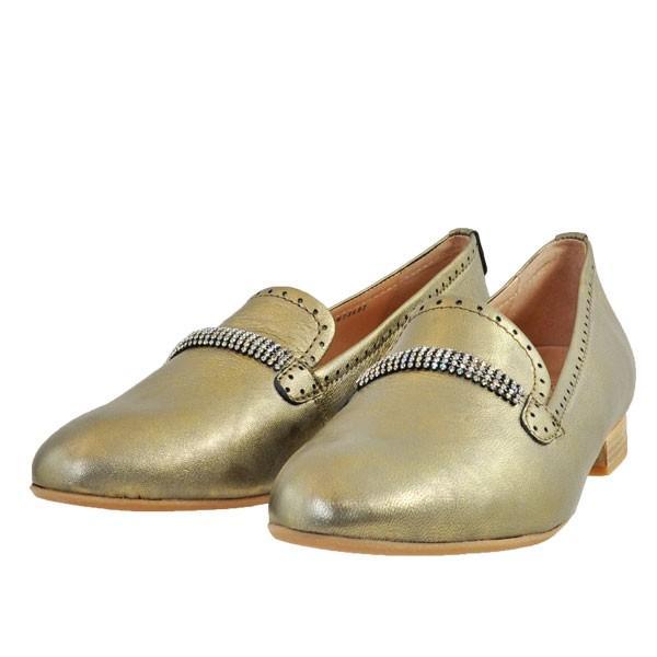 レディース 靴 パンプス マドラス ソフトウェーブス ラインストーン オニグリ 2cmヒール 革底 フラットシューズ 送料無料 ブロンズ SW73602BRZ|pieds