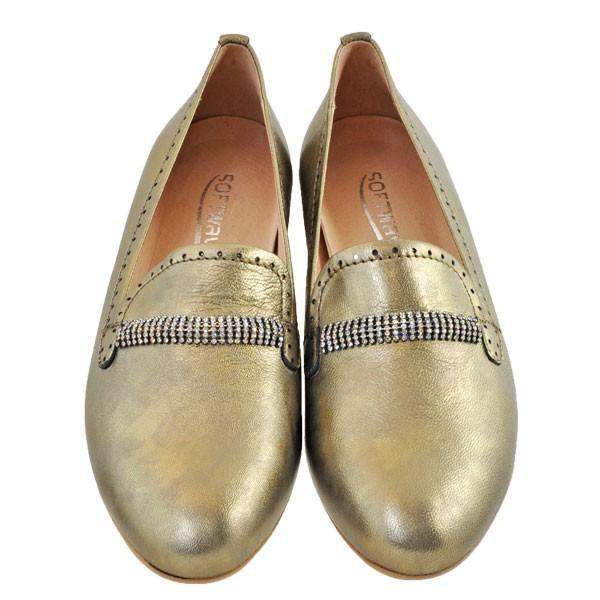 レディース 靴 パンプス マドラス ソフトウェーブス ラインストーン オニグリ 2cmヒール 革底 フラットシューズ 送料無料 ブロンズ SW73602BRZ|pieds|02