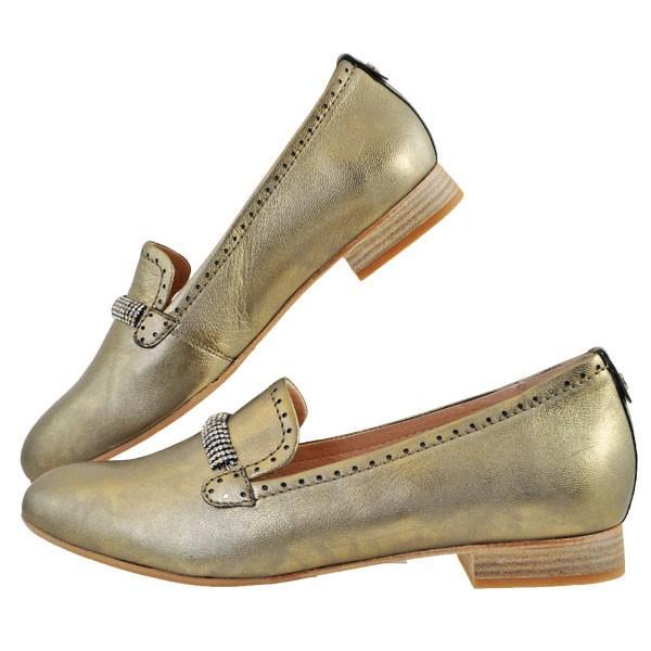 レディース 靴 パンプス マドラス ソフトウェーブス ラインストーン オニグリ 2cmヒール 革底 フラットシューズ 送料無料 ブロンズ SW73602BRZ|pieds|03