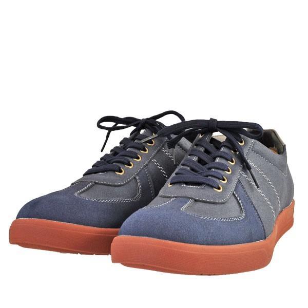 メンズ 靴 カジュアルシューズ UPレノマ 超軽量スニーカー ネイビー U1527NAV|pieds