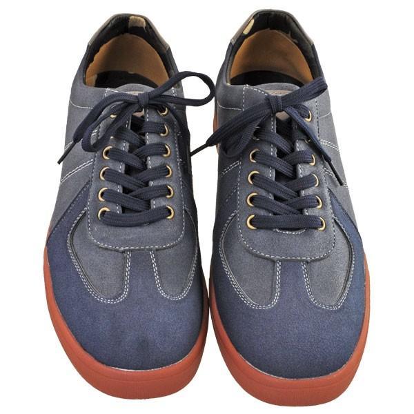 メンズ 靴 カジュアルシューズ UPレノマ 超軽量スニーカー ネイビー U1527NAV|pieds|02