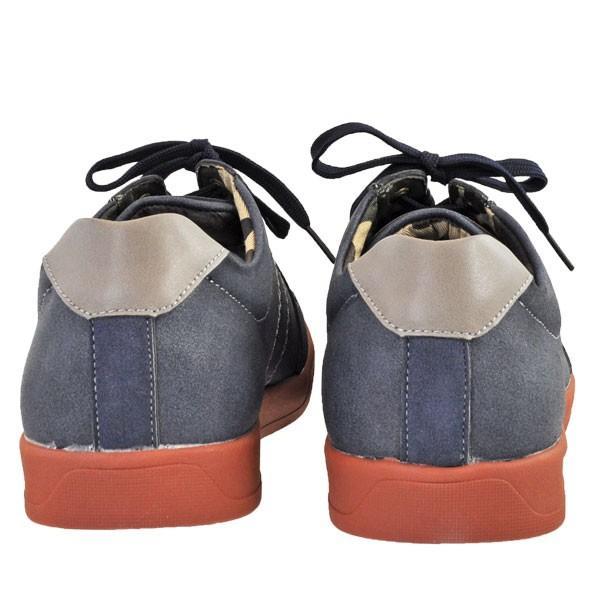 メンズ 靴 カジュアルシューズ UPレノマ 超軽量スニーカー ネイビー U1527NAV|pieds|04