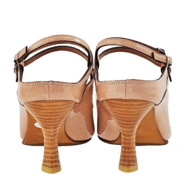 レディース 靴 パンプス ラボキゴシ ワークス ポインテッドトゥ バックストラップパンプス 送料無料 パールベージュエナメル works9133-12321PBGE pieds 04