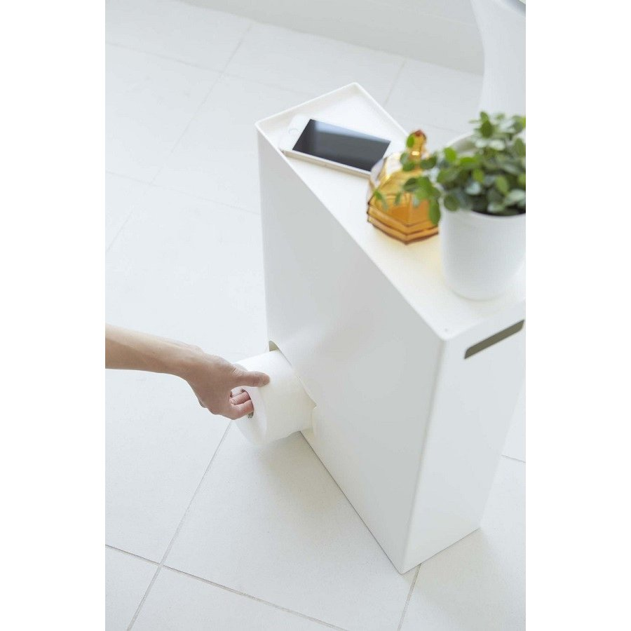 トイレットペーパーストッカー 収納 ホワイト 幅33cm|piena|03